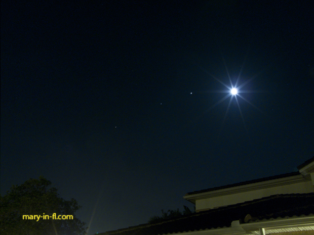 planets and the moon lined up